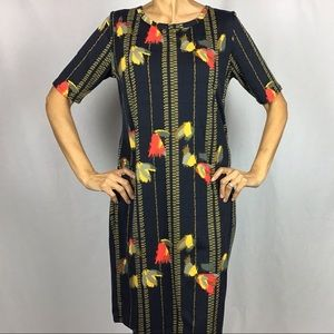LULAROE JULIA STYLE DRESS NAVY BLUE
